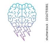 brain in top view with... | Shutterstock .eps vector #1016755081