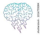 brain in side view with... | Shutterstock .eps vector #1016755084