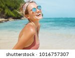 summer holidays  vacations and... | Shutterstock . vector #1016757307