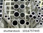 small aluminum tubes and frames | Shutterstock . vector #1016757445