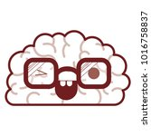 brain character with glasses... | Shutterstock .eps vector #1016758837
