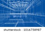 warehouse sketch. vector... | Shutterstock .eps vector #1016758987