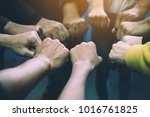 group of business people united ... | Shutterstock . vector #1016761825