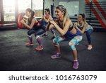 group of athlete women...   Shutterstock . vector #1016763079