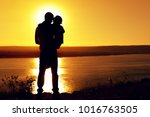 rear view   silhouette of the... | Shutterstock . vector #1016763505