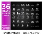 real estate logo set   abstract ... | Shutterstock .eps vector #1016767249