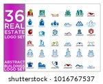 real estate logo set   abstract ... | Shutterstock .eps vector #1016767537