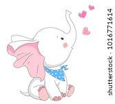 cute elephant  vector...   Shutterstock .eps vector #1016771614