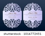 wedding invitation with lace... | Shutterstock .eps vector #1016772451