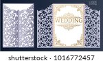 laser cut wedding invitation... | Shutterstock .eps vector #1016772457
