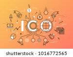 ico or initial coin offering... | Shutterstock .eps vector #1016772565