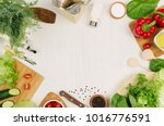 healthy vegeterian ingredients... | Shutterstock . vector #1016776591