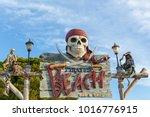 palma  spain june 25  2016 bar... | Shutterstock . vector #1016776915