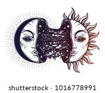 moon crescent turning into... | Shutterstock .eps vector #1016778991