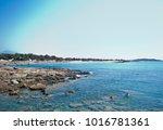 wonderful beach of the island... | Shutterstock . vector #1016781361