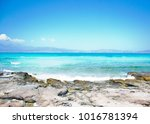 wonderful beach of the island... | Shutterstock . vector #1016781394