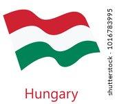 vector illustration waving flag ...   Shutterstock .eps vector #1016783995