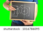 hand of a football coach... | Shutterstock . vector #1016786095
