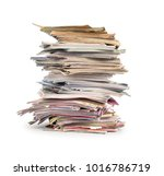 magazines stack isolated | Shutterstock . vector #1016786719
