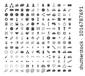 vector set of 150    web icons  ... | Shutterstock .eps vector #1016787691