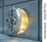 bank safe storage 3d... | Shutterstock . vector #1016787721