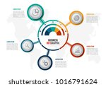 abstract infographics five... | Shutterstock .eps vector #1016791624