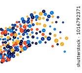 vector confetti background... | Shutterstock .eps vector #1016792371
