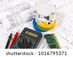 electrical engineering drawings ... | Shutterstock . vector #1016795371