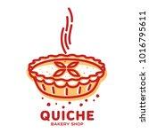 meat pie  roll  quiche vector... | Shutterstock .eps vector #1016795611