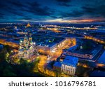 russian cities. view of st.... | Shutterstock . vector #1016796781