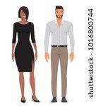 man and woman. vector...   Shutterstock .eps vector #1016800744