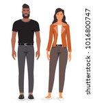 man and woman. vector...   Shutterstock .eps vector #1016800747