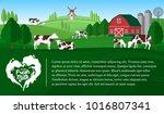 vector milk illustration with... | Shutterstock .eps vector #1016807341