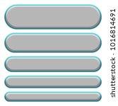 smooth flat metallic gray set... | Shutterstock . vector #1016814691