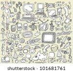 notebook doodle design elements ... | Shutterstock .eps vector #101681761