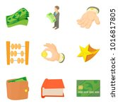 material wealth icons set.... | Shutterstock .eps vector #1016817805