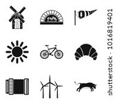 rural locality icons set