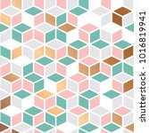 pattern design with cubes... | Shutterstock .eps vector #1016819941
