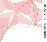 golden geometric lines  modern... | Shutterstock .eps vector #1016820289