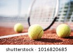 tennis game. tennis ball with... | Shutterstock . vector #1016820685