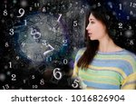 magic world of magic numbers... | Shutterstock . vector #1016826904