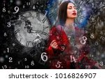 magic world of magic numbers... | Shutterstock . vector #1016826907
