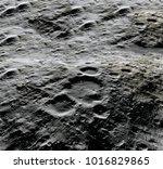 moon surface. realistic 3d... | Shutterstock . vector #1016829865