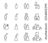 people icons line vector .... | Shutterstock .eps vector #1016832295