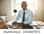 successful young african... | Shutterstock . vector #1016837071