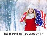 winter portrait of young teen... | Shutterstock . vector #1016839447