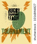 rugby typographical vintage... | Shutterstock .eps vector #1016846827