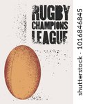rugby typographical vintage... | Shutterstock .eps vector #1016846845