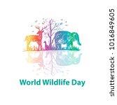 World Wildlife Day | Shutterstock vector #1016849605