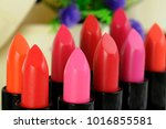bright  fashion  lipsticks... | Shutterstock . vector #1016855581